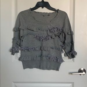 NWOT grey Anthropologie sweater